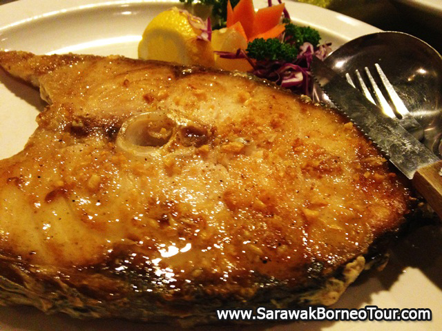 Fish pan-fried with soy sauce